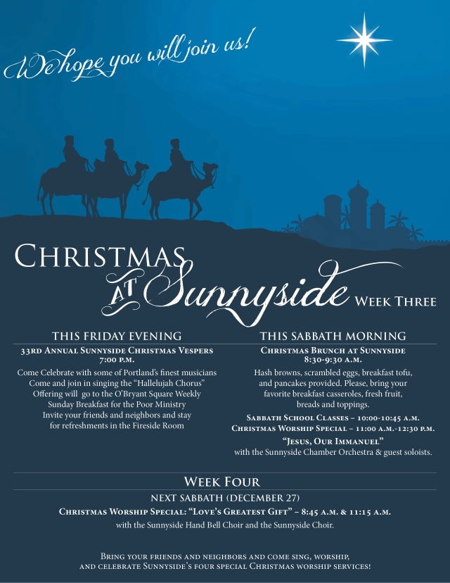 Christmas at Sunnyside Wk3