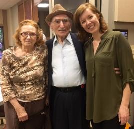 Jane; Manny Taiblum, holocaust survivor; and Pastor Kara.
