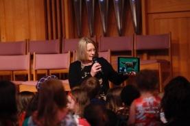 Barbara Plubell telling children's story.