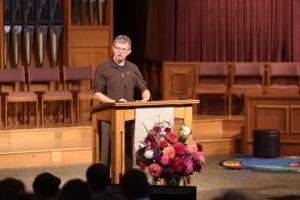 Ron Blehm reading scripture