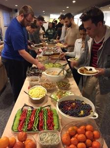 Providing food for the WWU student nurses.